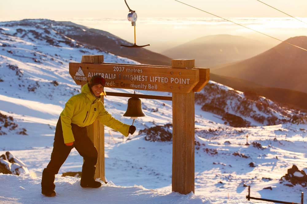 Bucket list at Thredbo - Ring the Community Bell