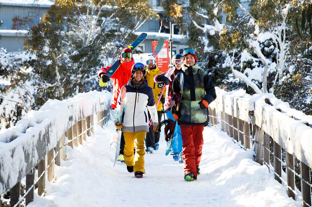Easy walk to the slopes in Thredbo